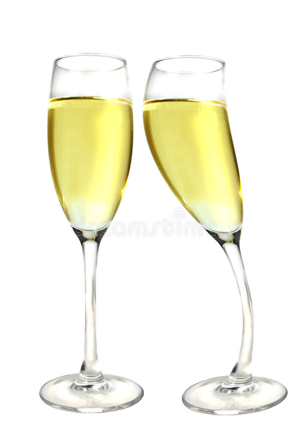 Champagne Kiss royalty free stock images