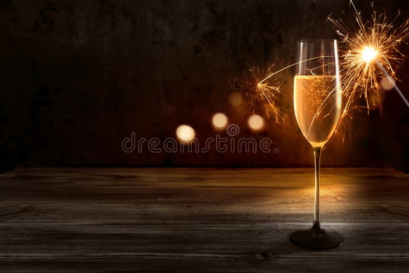 Champagne for a new year celebration stock images