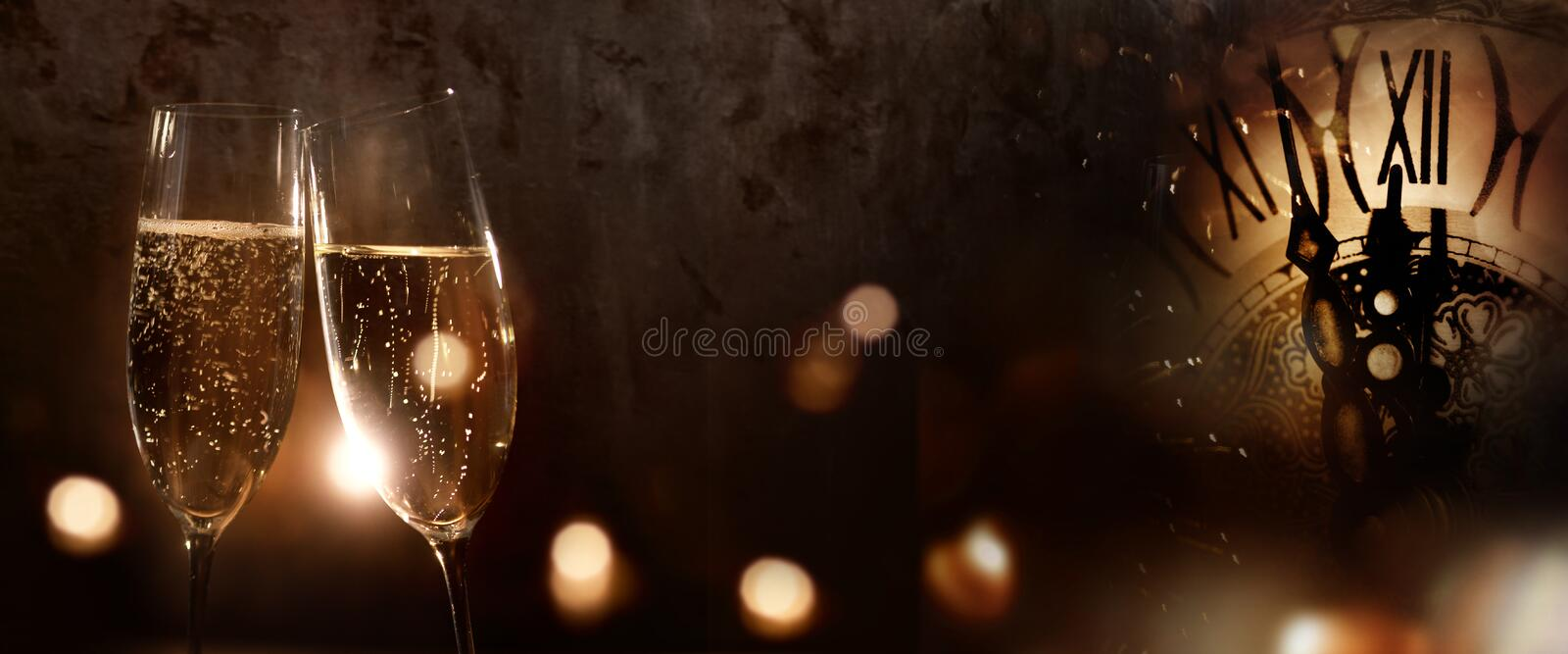 Champagne for the new year stock photography