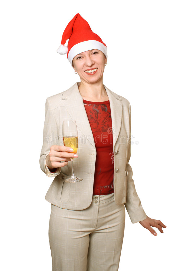 Download Champagne. A New Year's Holiday. Stock Photo - Image of woman, capacity: 7286780