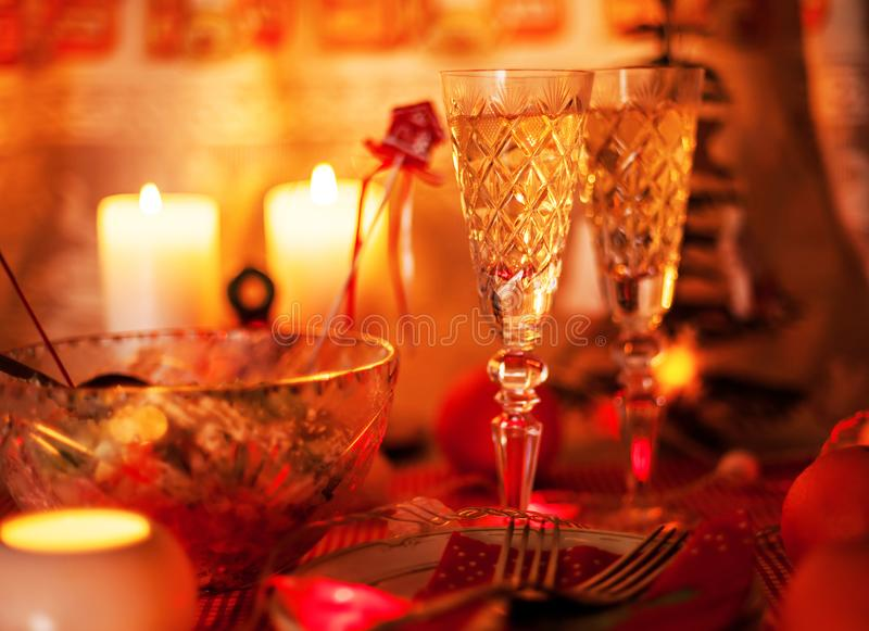 Champagne on New Year stock photo