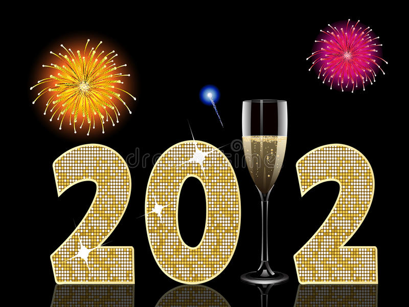 Champagne new year2012 vector illustration