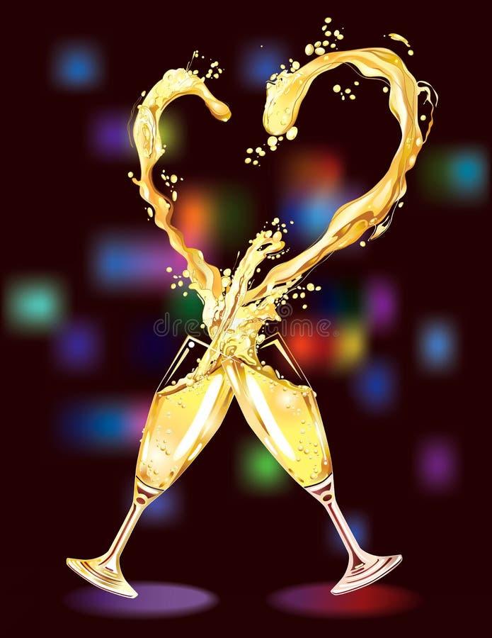 Champagne para a celebração ilustração do vetor
