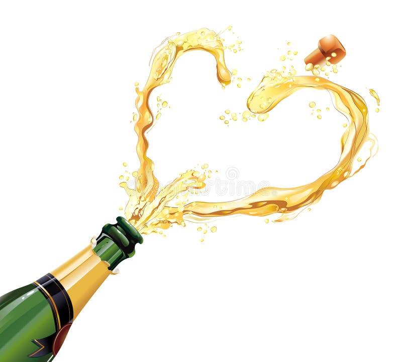 Champagne para a celebração ilustração royalty free