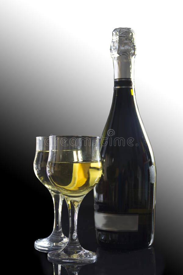 Champagne para dois foto de stock
