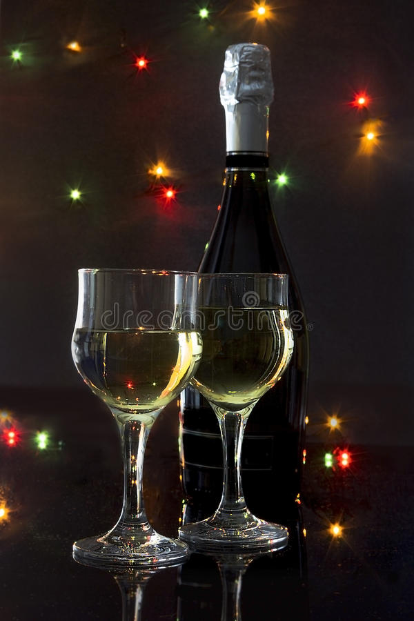 Champagne para dois imagens de stock