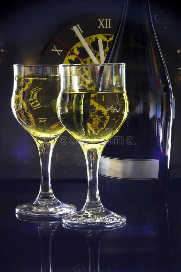 Champagne para dois fotografia de stock