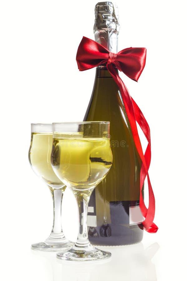 Champagne para dois fotografia de stock royalty free