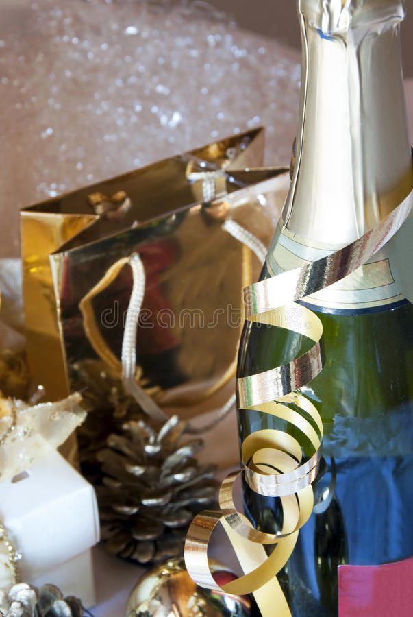 Champagne party stock photo