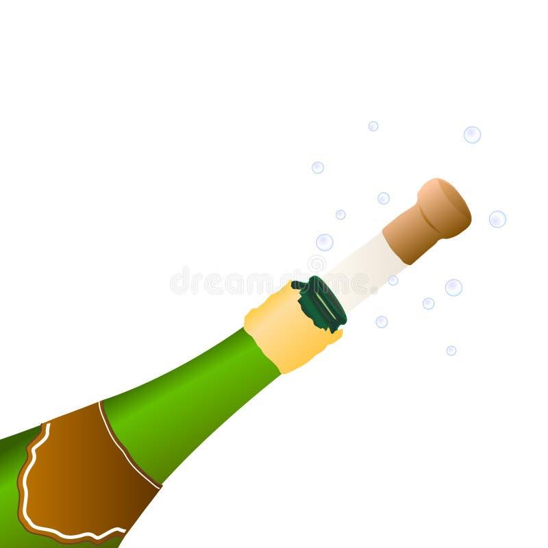 Champagne per celebrare un evento royalty illustrazione gratis