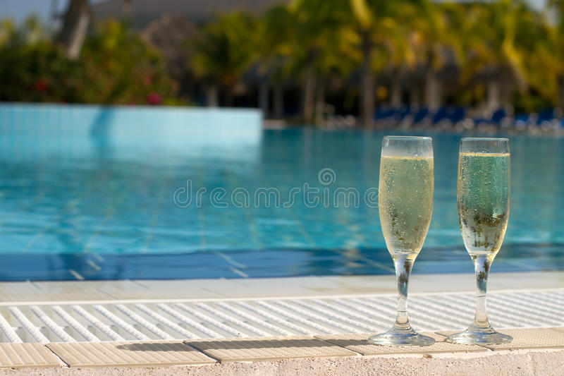 Champagne Pool royalty free stock photography
