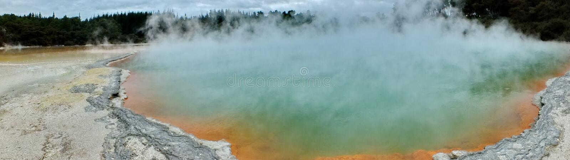 Champagne Pool at Wai-O-Tapu Thermal Wonderland. Rotorua, New Zealand stock photos