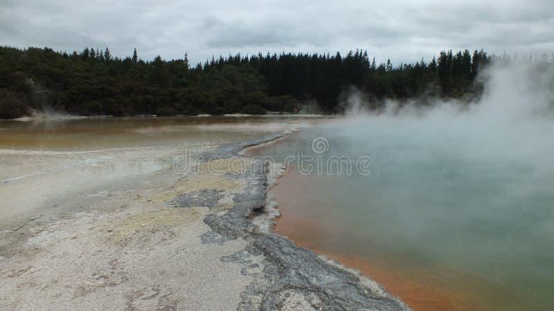 Champagne Pool at Wai-O-Tapu Thermal Wonderland. Rotorua, New Zealand stock images