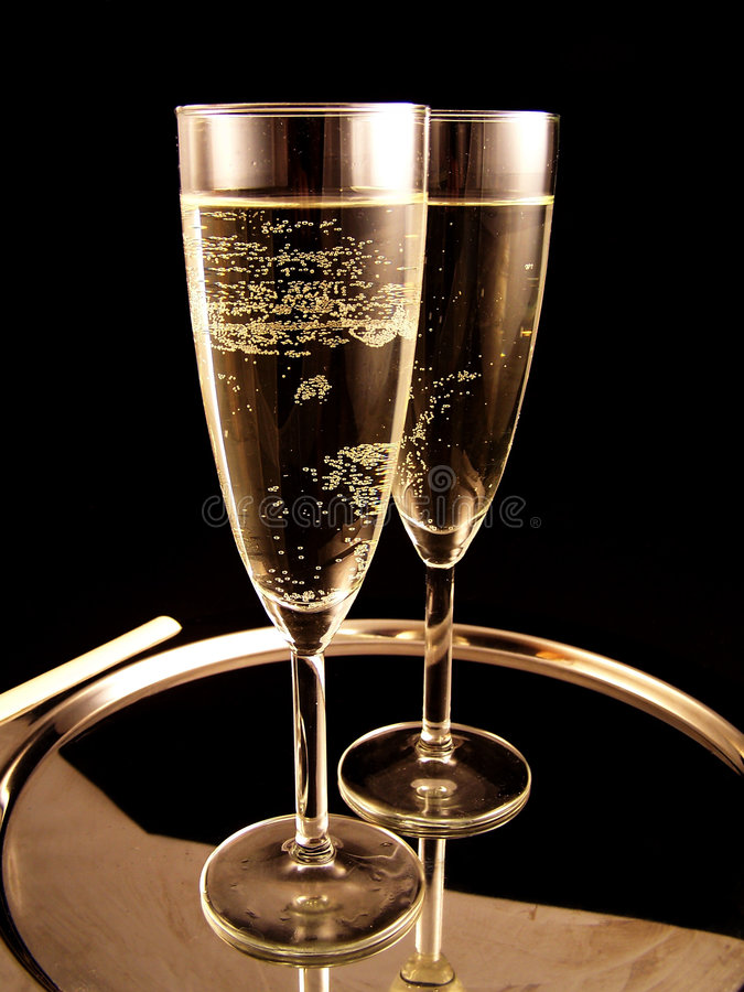Champagne ready for new Year Party royalty free stock images