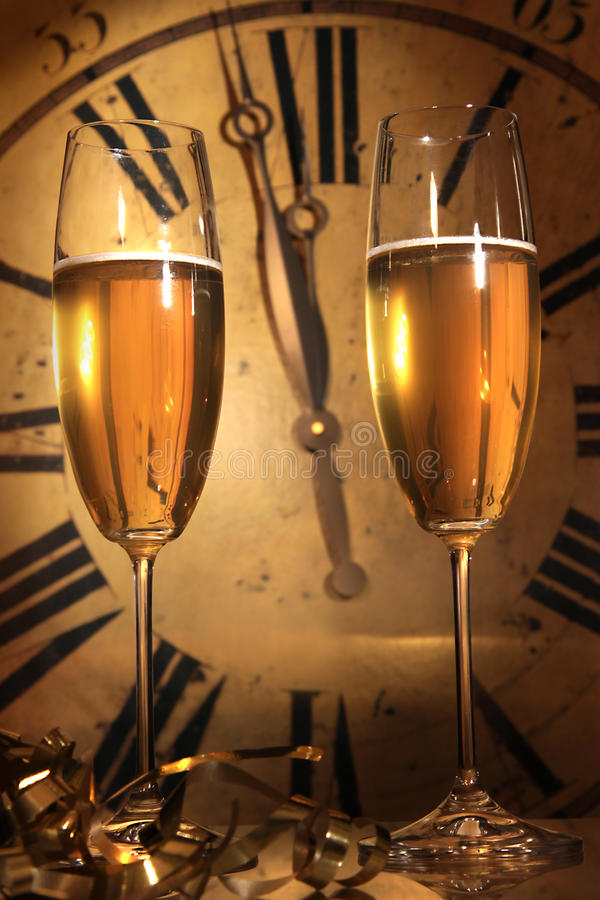 Free Champagne Ready To Bring In The New Year Royalty Free Stock Images - 12259849