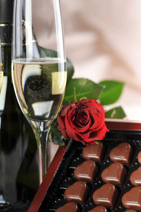 Download Champagne And Red Rose Stock Images - Image: 13047054