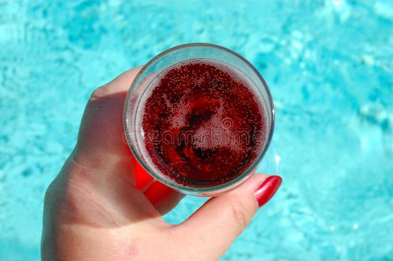 Champagne rosso fotografie stock libere da diritti