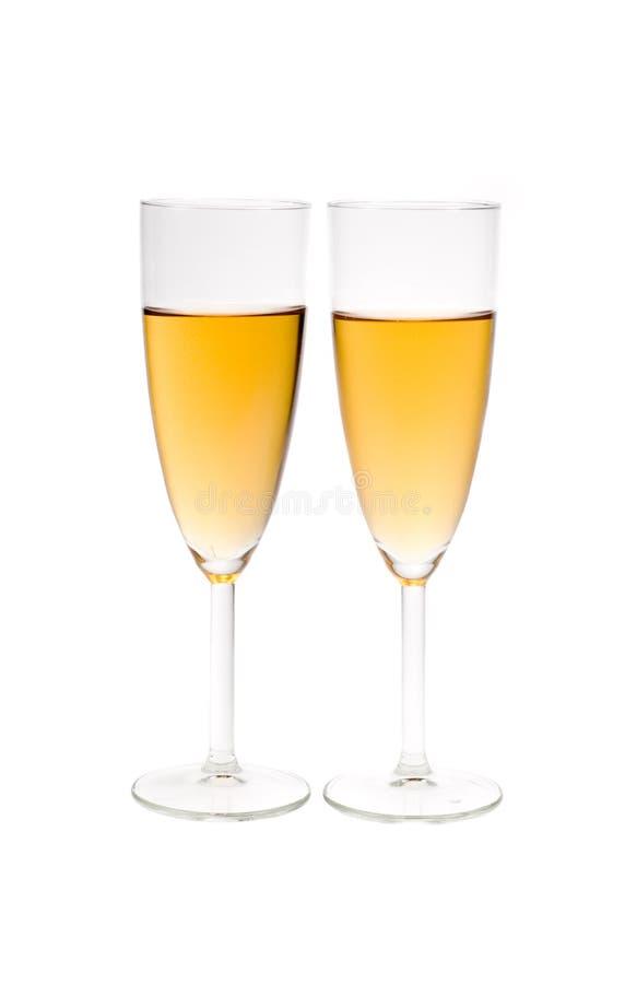 Champagne in scanalatura fotografia stock