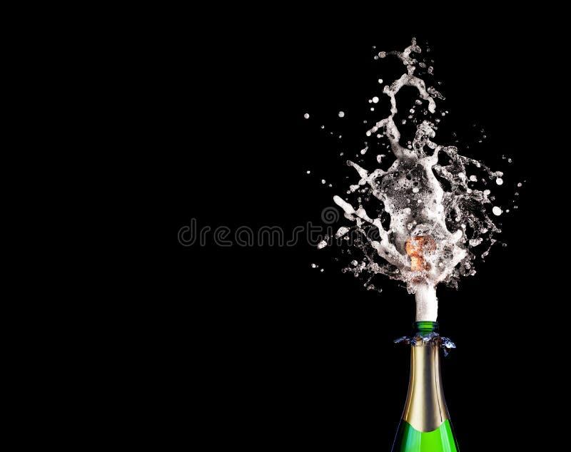 Champagne schioccante immagine stock libera da diritti