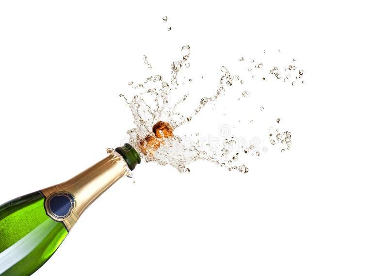 Champagne schioccante fotografia stock