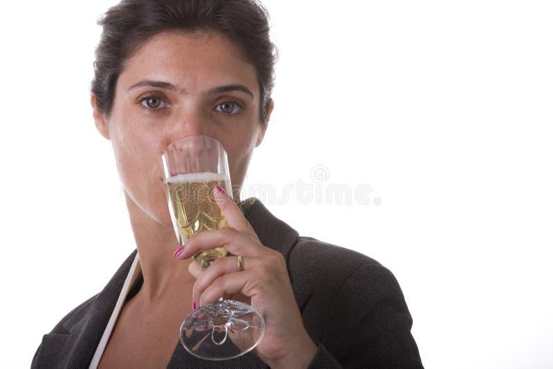 champagne som dinking royaltyfri fotografi