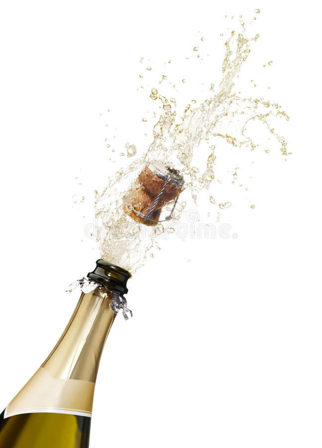 Champagne splashing royalty free stock photo
