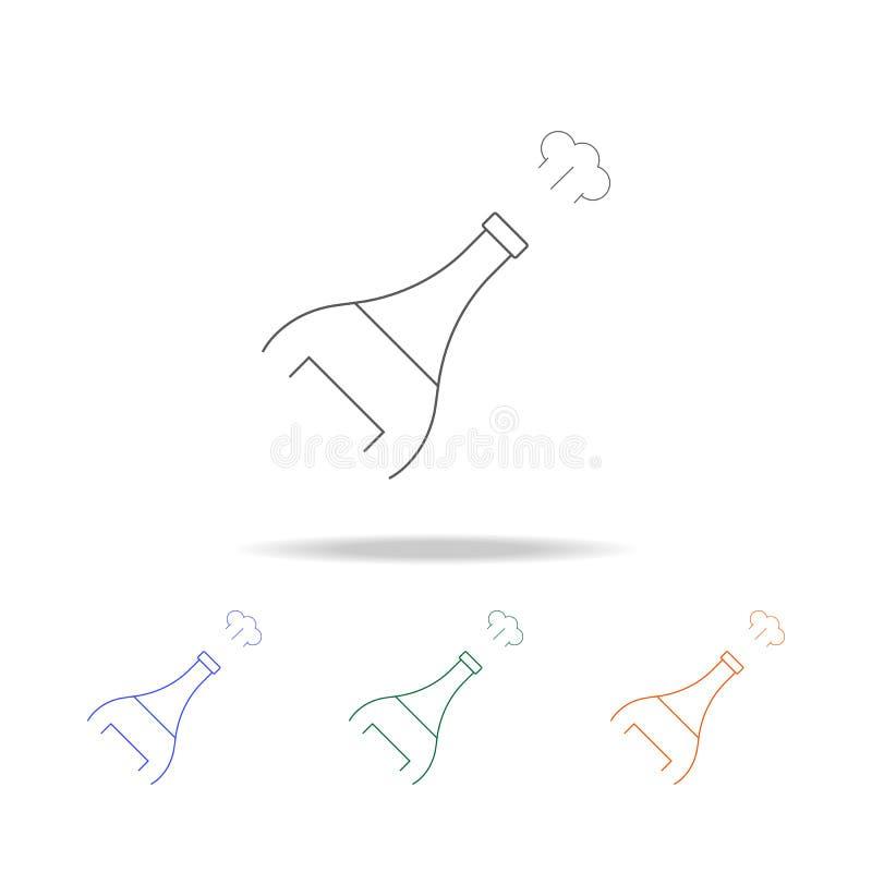Champagne-Sprayikone Element der multi farbigen Ikone der Preise für bewegliche Konzept und Netz apps Dünne Linie Ikone für Websi vektor abbildung