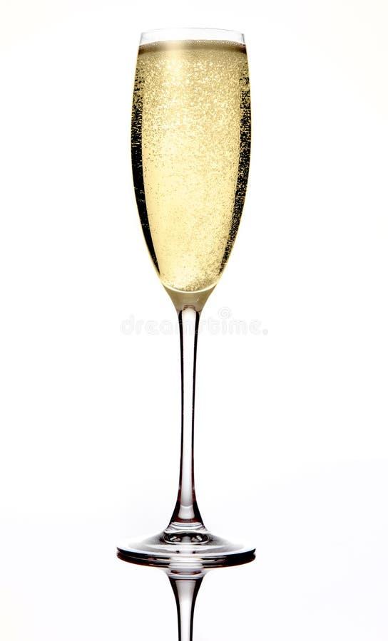 Champagne sprudelnd lizenzfreie stockfotografie