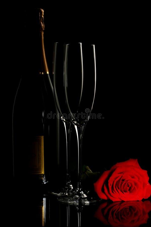 champagne steg arkivfoto