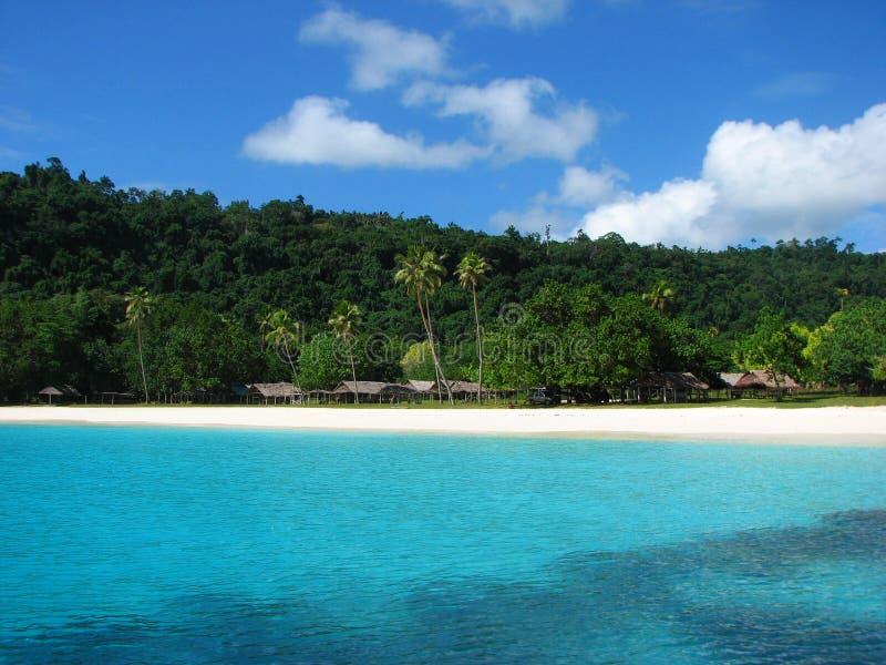Champagne-Strand, Vanuatu lizenzfreie stockfotografie