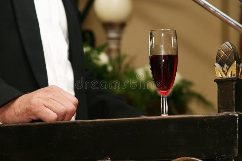 Champagne Sul Podio Fotografie Stock