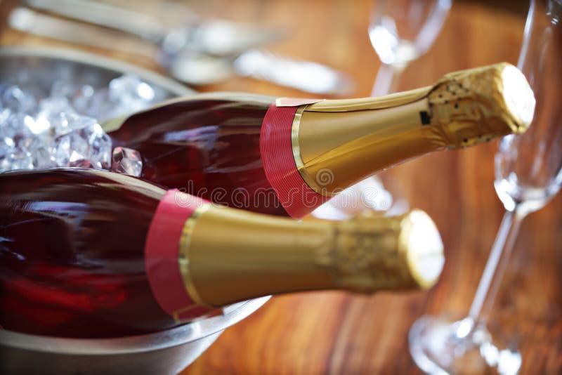 Champagne sur la glace image libre de droits
