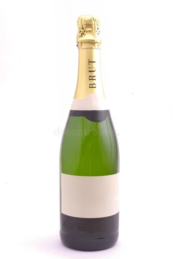 Champagne sur le blanc photo libre de droits