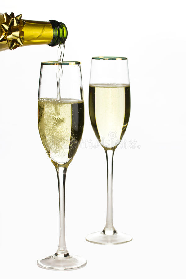 Champagne time royalty free stock photo