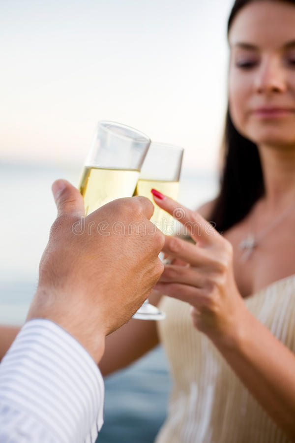 Champagne-Toast stockfotografie