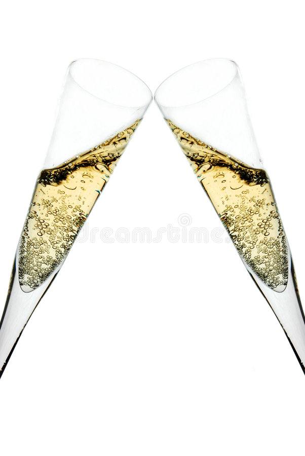 Champagne toast royalty free stock photo