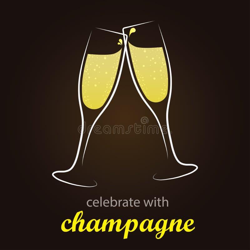 Champagne Toast - moment de célébration illustration stock