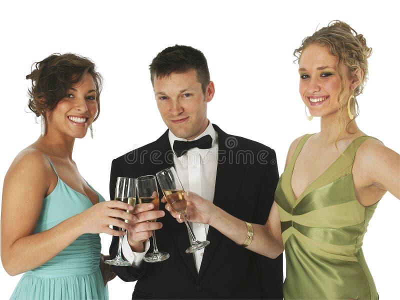 Champagne-Trio lizenzfreies stockbild
