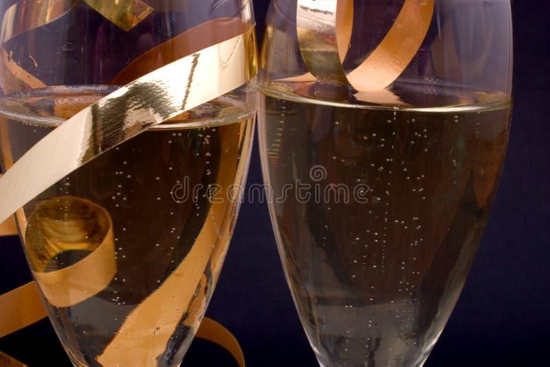 Champagne vicino fotografia stock libera da diritti