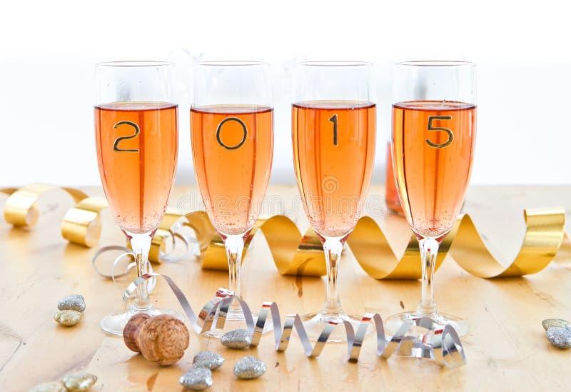 Champagne voor Nieuwjaar stock foto