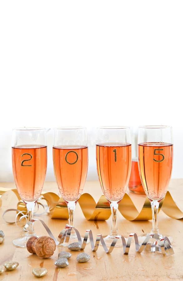 Champagne voor Nieuwjaar royalty-vrije stock afbeeldingen