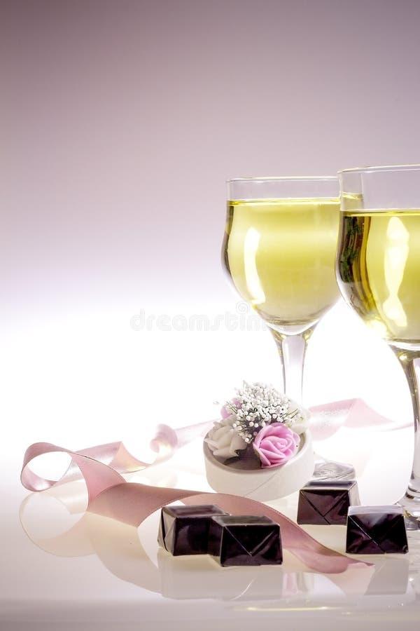 Champagne voor Twee royalty-vrije stock fotografie