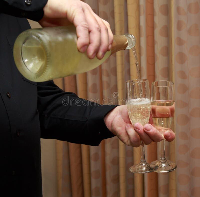 Champagne voor Twee stock afbeelding