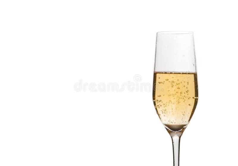CHAMPAGNE wineglass στο λευκό στοκ εικόνες με δικαίωμα ελεύθερης χρήσης