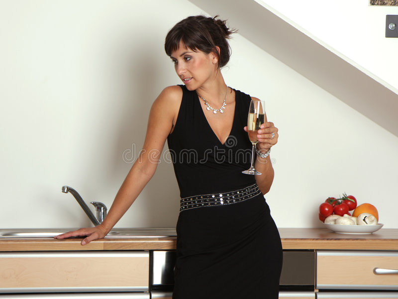 Champagne Woman Royalty Free Stock Photography