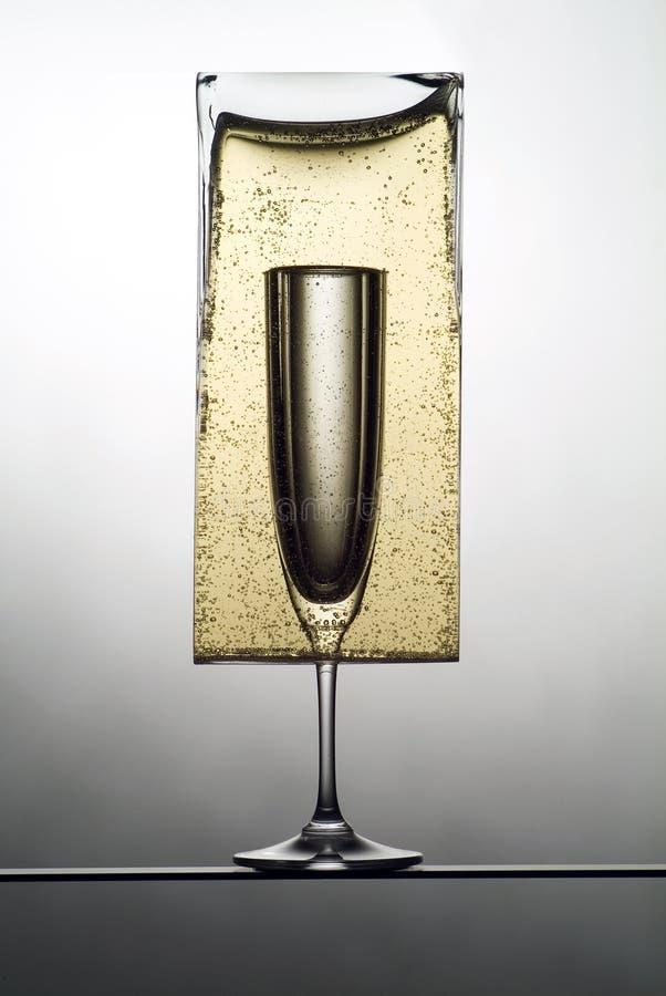 champagne1逆 免版税库存照片