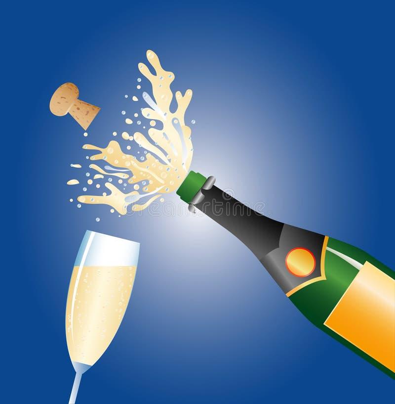 Champagne131107 vector illustration