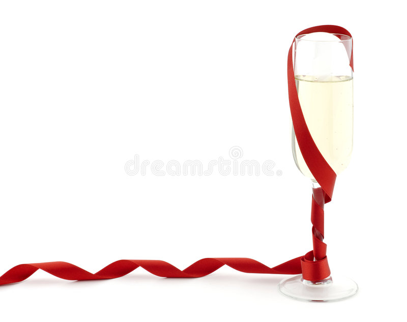 champagneband royaltyfria bilder
