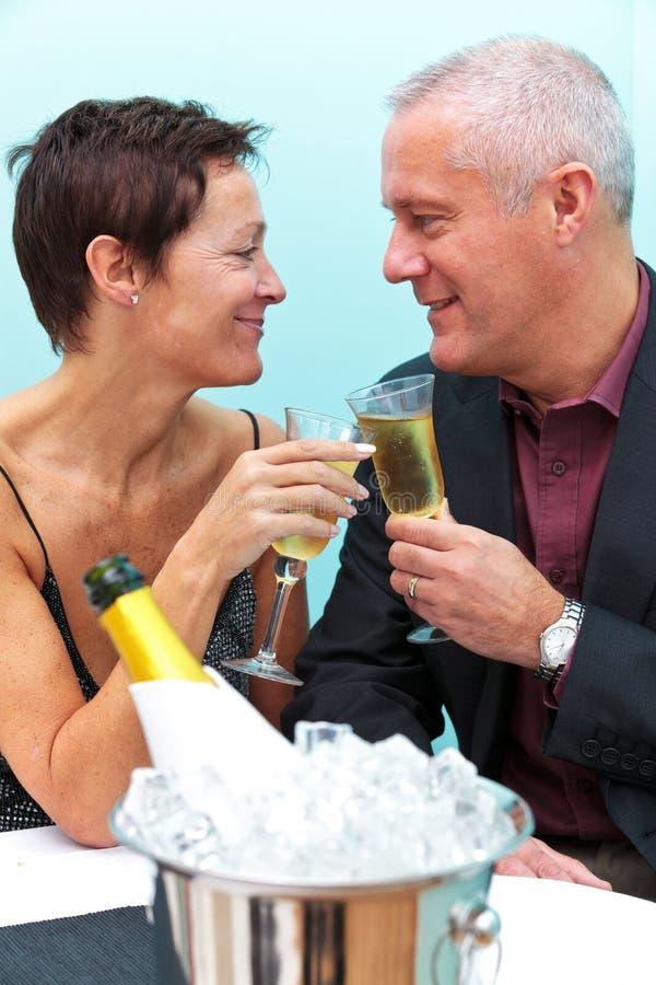Champagneberöm royaltyfri fotografi