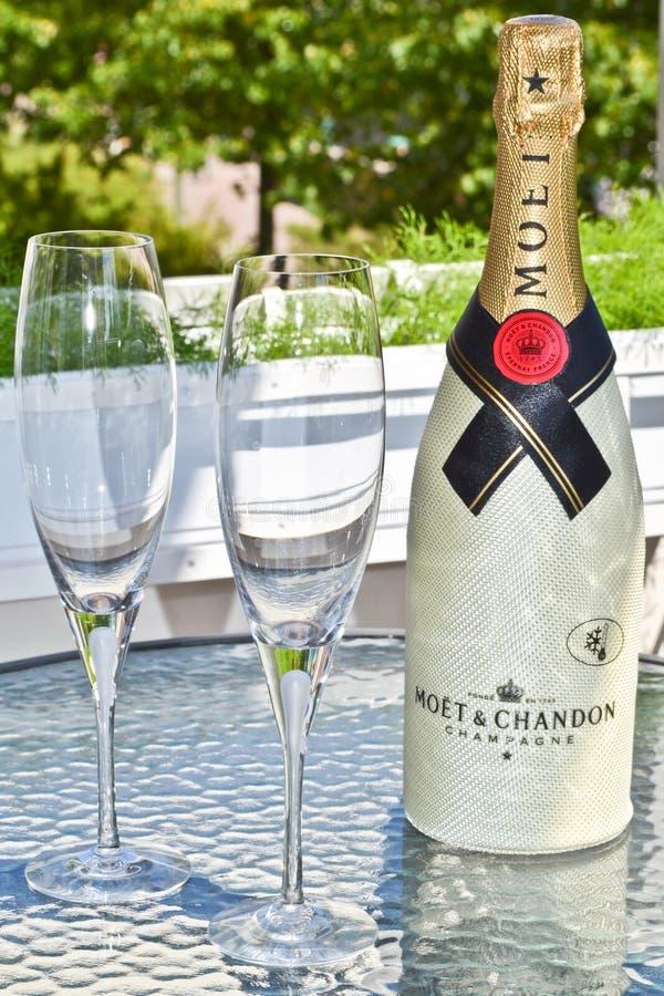 Champagneberöm royaltyfria foton